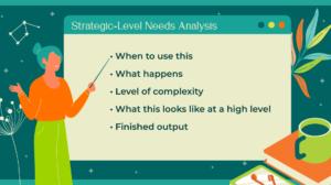 Strategic level needs analysis