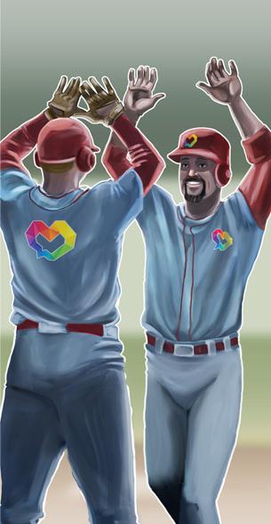 baseball players celebtrating