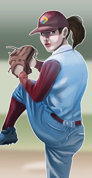 baseball player pitching