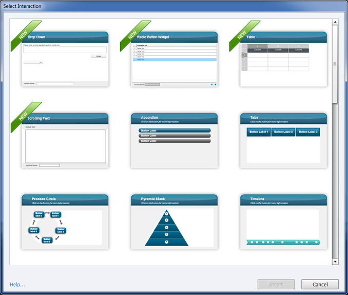 Captivate 7 Customizable Interactivities Screenshot