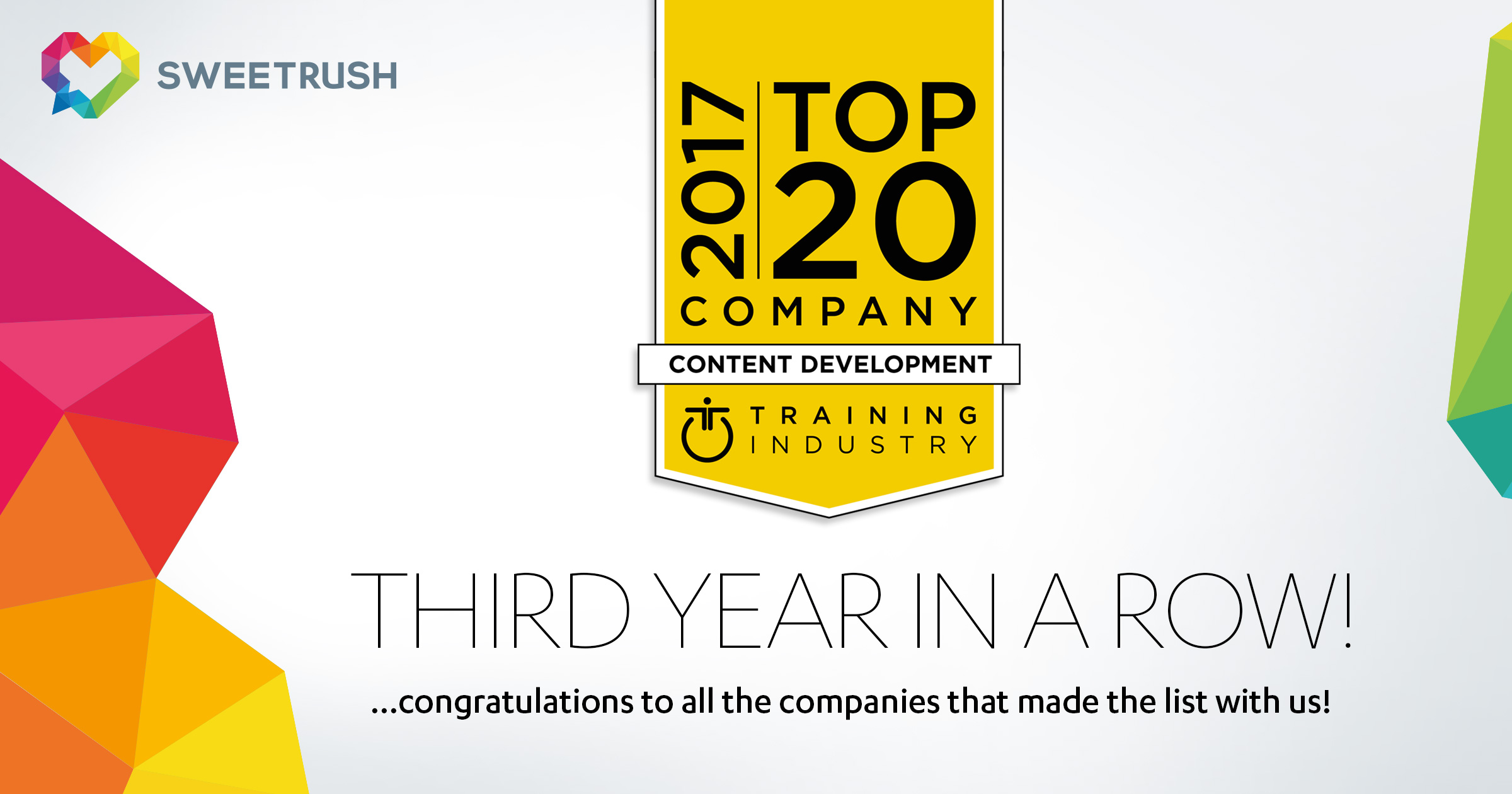 top 20 content and development company_sweetrush_training_industry