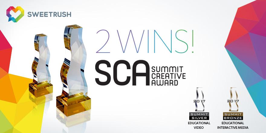 SweetRush won two Summit Creative Awards 2017