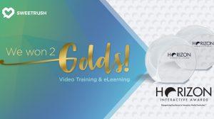 SweetRush Horizon Video Training and eLearning Awards_2018