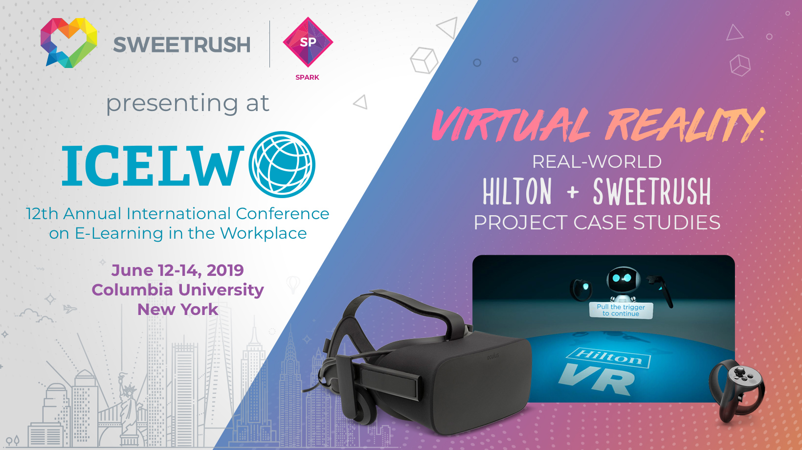 SweetRush to Present VR Case Studies with Hilton at eLearning Conference ICELW 2019