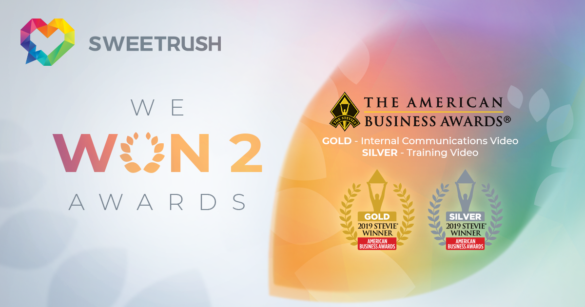 SweetRush Named a Stevie Award Winner in video categories