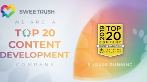 SweetRush Featured on Training Industry's Top 20 Content Development Companies List