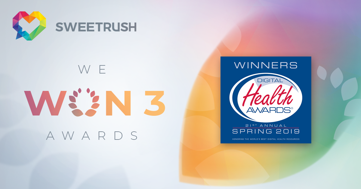 SweetRush won 3 Digital Health Awards