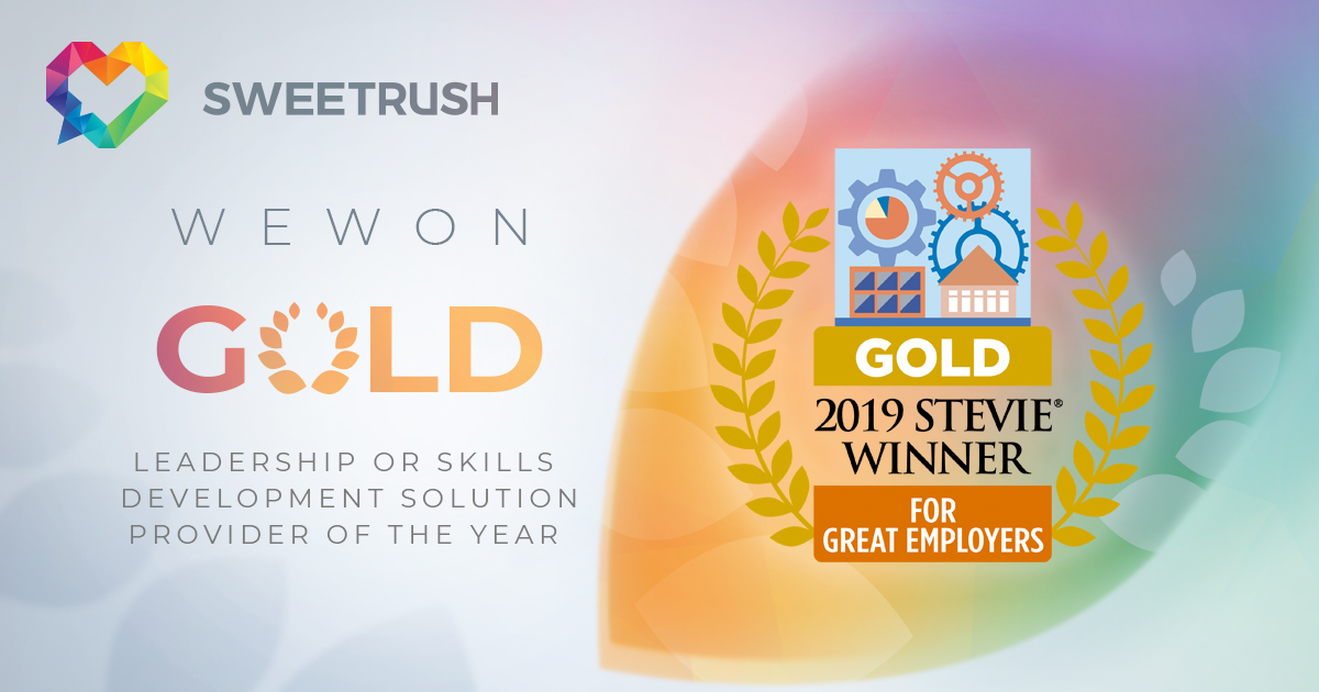 "SweetRush a Gold ""Great Employer"" Among 2019 Stevie Award® Winners"