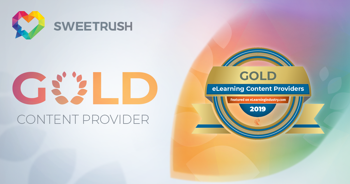 Sweetrush won Gold Award on eLearning Industry Content Providers