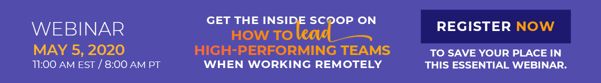 How to Lead Teams when working remotely Webinar Registration