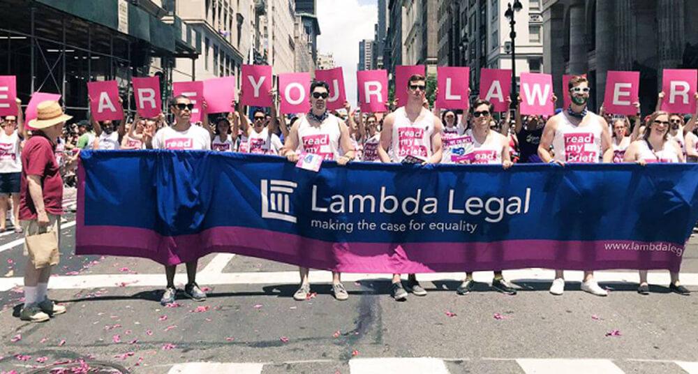 Lambda Legal members at the Pride Parade