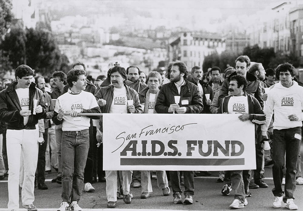 Members of the San Francisco A.I.D.S Fund at a march
