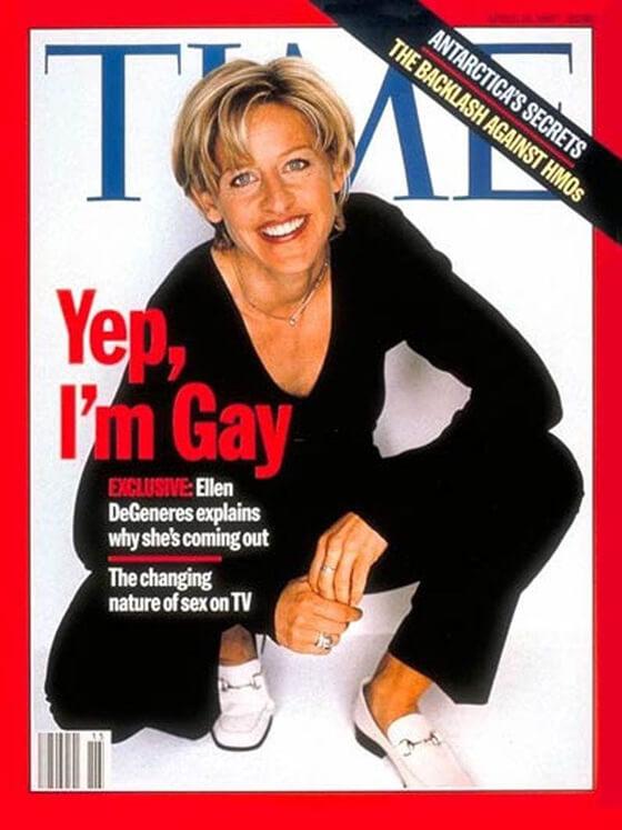 Ellen DeGeneres on the cover of Time Magazine