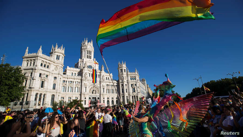Activists in Spain during a Pride Parade