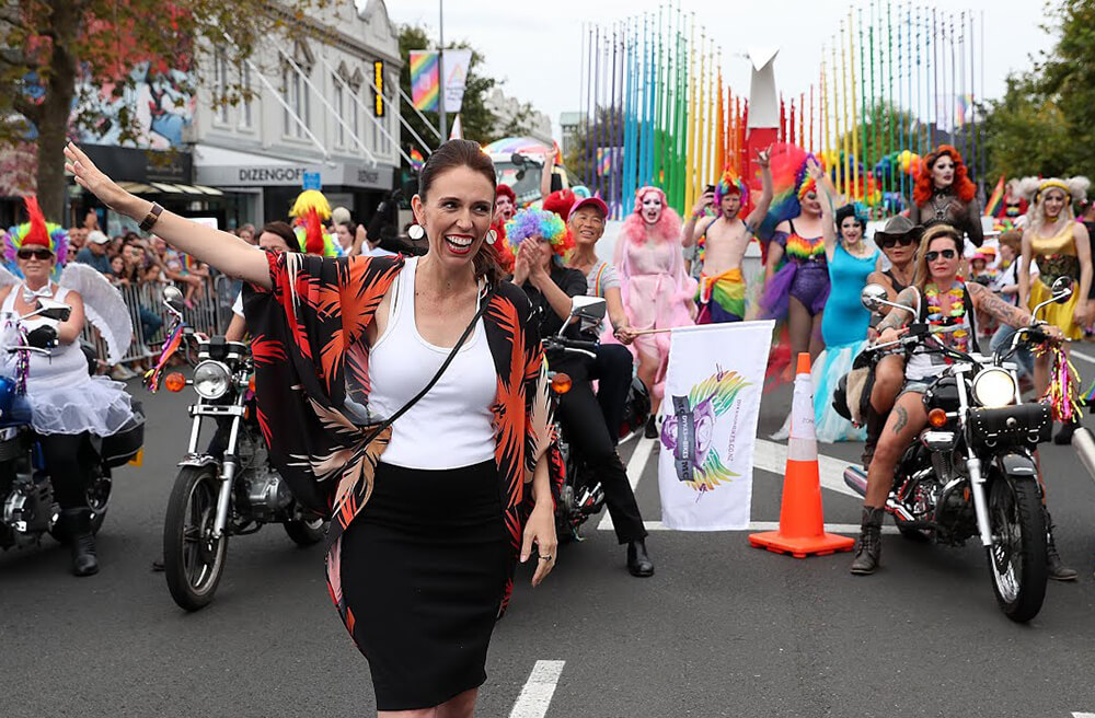 Activists at a Pride Parade in New Zealand